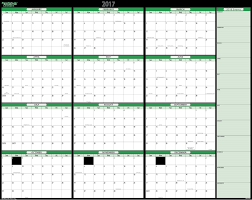 yearly calendar 2017 template blank calendar png