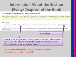 mla cite book of essays mla works cited page books the purdue university online