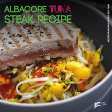 Medium rare albacore TUNA steak recipe ...
