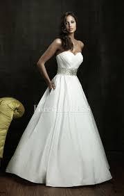 white taffeta wedding dresses with beaded waistline and pleated bodice