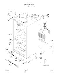 Kenmore model 59672003014 bottom mount refrigerator genuine parts