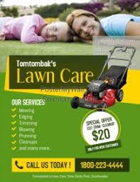 lawncare ad lawn service flyer templates postermywall