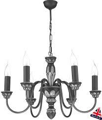 david hunt oxford antique pewter 6 light chandelier uk made