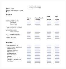 Church Budget Template 14 Free Pdf Word Formats