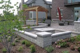 contemporary fire concrete patio fire pit ideas with