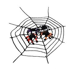 Colorful Spiders Horror <b>Spider Web</b> Ornament For Halloween Party ...