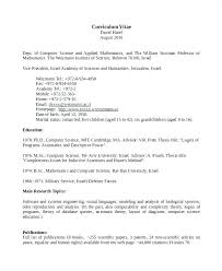 Science Resume Template Extraordinary Computer Science Cv Template Pdf Computer Science Cv Template Pdf