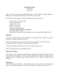 Science Resume Template Extraordinary Computer Science Cv Template Pdf Computer Science Cv Template Pdf