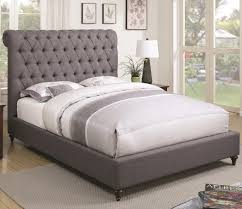 Devon Grey Upholstered Bed Andrews Furniture and Mattress