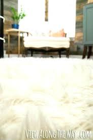 faux fur rug ikea white faux sheepskin rug rug tutorial this is brilliant white faux fur