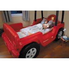 little tikes jeep wrangler toddler to twin convertible bed red com