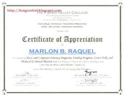 Template Attendance Certificate Template Word Of Appreciation The