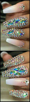 25+ beautiful Rhinestone nails ideas on Pinterest   Nails design ...