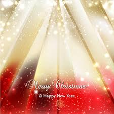 Download Vector Red Gold Sparkles Christmas Background