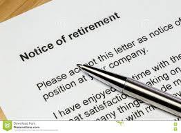 Retirement Letter Notice Of Retirement Letter Closeup Stock Photo Image Of Elderly