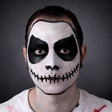 for a simple face paint which still looks y our skull guide will help you with