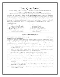 Sales Marketing Resume Sample sales and marketing resume sample Enderrealtyparkco 1