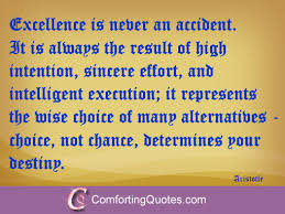 Aristotle Excellence Quote Unique Aristotle Quote About Excellence ComfortingQuotes