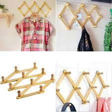 Expandable Wooden Coat Rack Solid Wooden Hanger Expandable Wooden Coat Rack Hat Hook Expanding 23