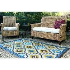 fab habitat rug 5 x 8 royal blue and chocolate brown cancun indoor outdoor 8x10 fab habitat rug