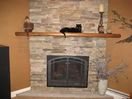 Mantel On Stone Fireplace The Interesting Fireplace Stone Designs Pictures