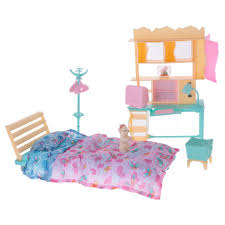 barbie glam bedroom furniture and doll set decor twin room games