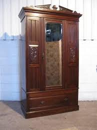 antique edwardian art nouveau mahogany wardrobe armoire c1890 antique mahogany armoire