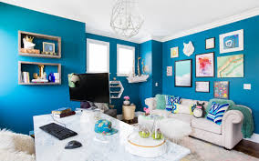 blue home office. A Colorful Home Office For YouTube\u0027s Joey Graceffa Blue