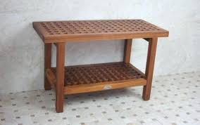 teak bench for shower seat shower teak bench engaging wood stool finish and bath south cedar