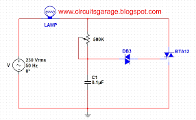 triac circuit other circuits next gr light dimmer circuit using diac and triac