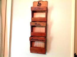 wall mount mail organizer mail organizer shelves new furniture wall mail organizers for home wooden wall