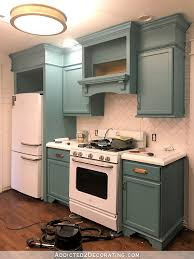 Teal Kitchen My Freshly Painted Teal Kitchen Cabinets