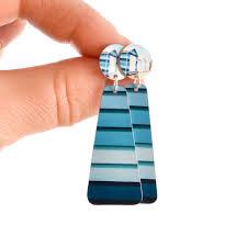 blue melbourne statement earrings