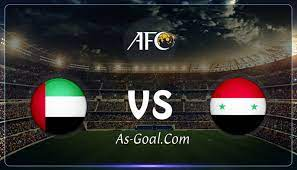 نتيجة مباراة سوريا والإمارات في تصفيات كأس العالم 2022