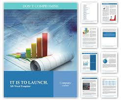 Growth concept business brochure background with diagram Word ...