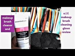 essential tools makeup brush cleaner and e l f makeup brush cleaning glove review