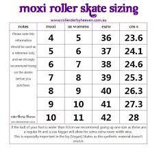 Moxi Size Chart Rollerderbyheaven