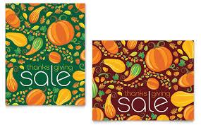 Thanksgiving Harvest Sale Poster Template Design