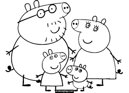 Peppa Pig Coloring Pages Free Printable Coloring Pages Online Pig