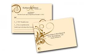 Rsvp Card Sizes Wedding Reply Card Size