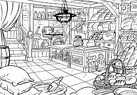 Coloring Inside A Bakery Picture