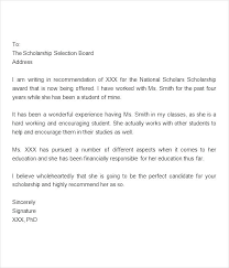 Employment Letter Of Recommendation Template Sample Letter