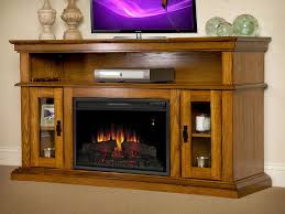 brookfield electric fireplace entertainment center in premium oak 26mm2209 o107