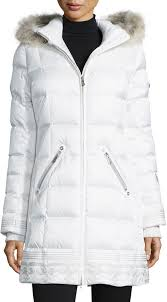 Bogner Selina Quilted Coat With Removable Fur Trim Hood | Where to ... & ... White Puffer Coats Bogner Selina Quilted Coat With Removable Fur Trim  Hood ... Adamdwight.com