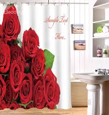 66 glam red roses image 3d shower curtain