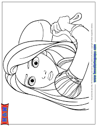 Small Picture Tangled Princess Name Rapunzel Smiling Coloring Page H M