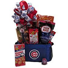 cubs cooler gift basket