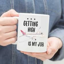 airplane pilot coffee mug gift idea pilots drink coffee and get high it s all part of the job any professional aviator with a sense of humor will dig this