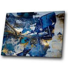 gold blue navy black grey abstract