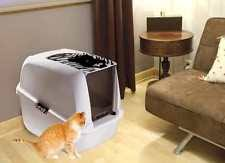 hagen catit hooded cat litter box. Cat Litter Tray Hooded Pan Box For Cats Large Big Giant Home Toilet Hagen Catit